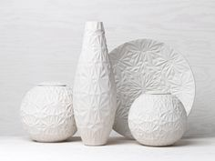 Dusty Diamonds by Anna Elzer Oscarson, beautiful Swedish design Vases, Ceramic Workshop, Thing 1, Private Club, Diy Home Decor On A Budget, Swedish Design, Ceramic Painting, E Design, Interior Design