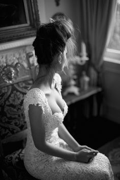 Lace Wedding Dress with a sweetheart neckline.