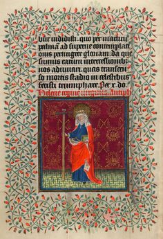 St. Helena | Hours of Catherine of Cleves | Illuminated by the Master of Catherine of Cleves | ca. 1440 | The Morgan Library & Museum