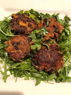 Black Bean Cakes, Indian Food Recipes, Ethnic Recipes, American Food, Black Beans, Tandoori Chicken, Starters, Tea Time, Sweet Potato