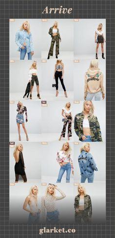 Arrive | Shop, search and compare prices and selections for Arrive and millions of other products at glarket.co! | with denim print afrm hem top raw jacket camo up skinny skirt jeans lace tracksuit embroidered stripe detail crop zip star mini shorts