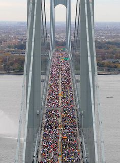 New York City Marathon- There is no more iconic running experience than crossing the Verrazano Narrows Bridge to start the NYC Marathon