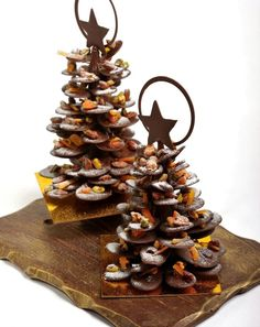 This elaborate chocolate Christmas tree from Executive Pastry Chef Adam Thomas at @Beverly Wilshire (A Four Seasons Hotel) makes a spectacular centerpiece. #FSTaste