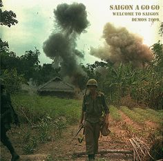 US Marines walk away from blown up bunkers and tunnels used by the Viet Cong. The action took place during Operation Georgia, a search and clear mission in Quang Nam and Quang Ngai Provinces, in the vicinity of An Hoa. May ~ Vietnam War Vietnam History, Vietnam War Photos, Us Marine Corps, Us Marines, North Vietnam, Hanoi Vietnam, War Image, American War, American Soldiers
