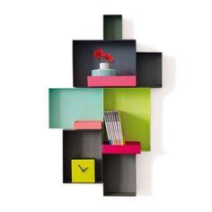 étagère Pappap - Due Colori - Noir, Vert et Turquoise