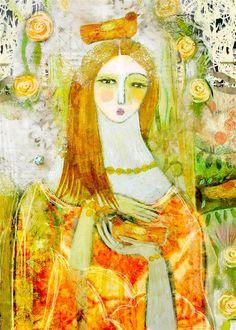 Katia's Wish Artwork Blank Greeting Card by artist Sarah Kiser 646