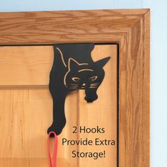 This Over the Door #Cat Hook provides extra storage and is very cute!