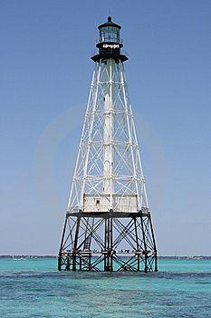 Alligator Reef Lighthouse off Florida
