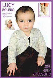 Lucy Bolero and hat and booties by Sue Hanmore - free