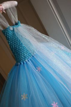 Elsa Frozen inspired tutu dress 12m-3T with matching by kbart21
