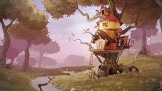 Tree house by Kjartan Tysdal   Whimsical   3D   CGSociety