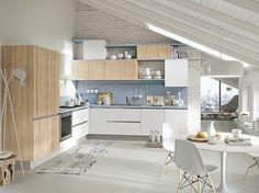 Cucina componibile con maniglie integrate UP - ABACO BY SNAIDERO by Snaidero design Snaidero design