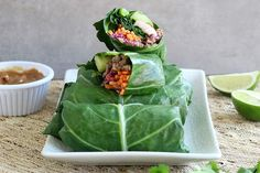 No-Rice Beef and Shrimp Spring Rolls with Almond Butter Sauce