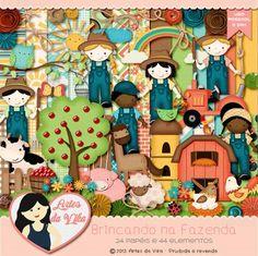 Kit Digital Brincando na Fazenda by Vika Matos