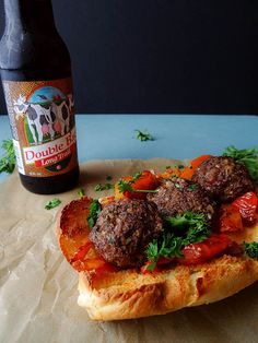 Vegan Walnut-Portabello Meatball Subs! Holey smokes.