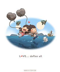 Love... defies all! - image