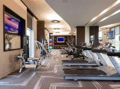 State-of-the-art fitness center at AMLI River Oaks luxury apartments