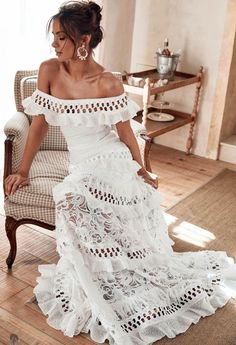 Grace Loves Lace, Boho Wedding, Wedding Gowns, Lace Weddings, Bridal Dresses, French Wedding Dress, Country Style Wedding Dresses, Wedding Engagement, Summer Wedding
