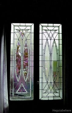 incoloro vitrales Vitrales geometricos de lineas y vidrios incoloros - transparentes y texturados.-  #vitraux  #vidrio   #glass-art  #vetrata-decorata