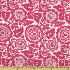 Joel Dewberry Heirloom Blockprint Blossom Fuchsia $7.82