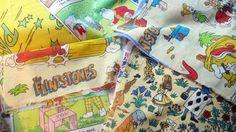 10 pieces of vintage children's fabrics - approx 3 metres!