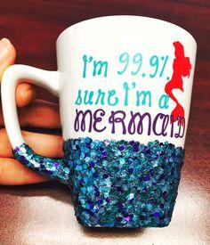 Mermaid Coffee Mug - I'm a Mermaid - Glitter Coffee Mug - Coffee Cup - Coffee Lover Gift - Mermaid Lover Gift - Custom Coffee Mug by GlitzyMissDesignsCo on Etsy https://www.etsy.com/listing/271222933/mermaid-coffee-mug-im-a-mermaid-glitter