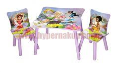 Detský stôl so stoličkami Disney Víly