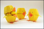 Pyssel: Påskkyckling av äggkartong
