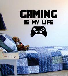Gaming Is My Life Gamer Decal Sticker Wall Vinyl Art Decor