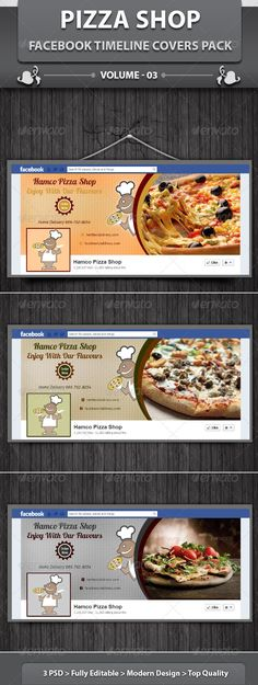 Restaurant Business FB Timeline | Volume 15  #GraphicRiver         This food item is a designed for any types of companies. It is made by simple shapes of elements although looks very professional. Easy to modify, change logo, icons and colors (like red, yellow, black, blue, cyan, brown, gray) dimensions, get different backgrounds and textures patterns combinations to suit the feel of your web or social media event. It's a clean, professional, readable graphics symbols template cards…