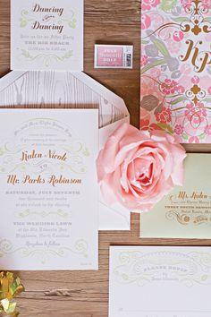 Harwell Photography   Wedding Planner/Coordinator: Calder Clark Designs   Invitations & Stationery: Cheree Berry Paper