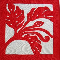 Monstera quilted wall hanging