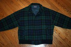 Men's Pendleton Wool Blackwatch Tartan Plaid Thinsulate thermal zip Jacket XL #pendleton #BasicJacket