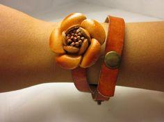 Brown Rose Bracelet