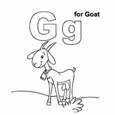 A G Coloring Pages Line