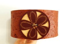 Brown leather bracelet.  Leather wrist by ChristyKeysCreations, $11.00