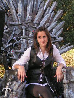 Asha on the Iron Throne by CalamityJade.deviantart.com on @deviantART