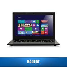 Equipado com um processador Intel Core i7, o Notebook CCE T745 assegura que você realize atividades simultâneas de maneira prática e rápida.