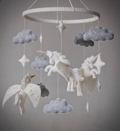 Baby mobile / Newborn gift / Nursery dercor / Crib baby mobile / Baby mobile hanging / Baby shower gift / Unicorn mobile / Cot mobile Hey, I found … Cool Baby, Fantastic Baby, Newborn Room, Newborn Gifts, Baby Newborn, Baby Room Decor, Nursery Decor, Unicorn Mobile, Ideas Dormitorios