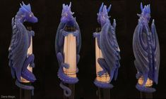 Dragon pen - Wax carving by Dans-Magic.deviantart.com on @deviantART