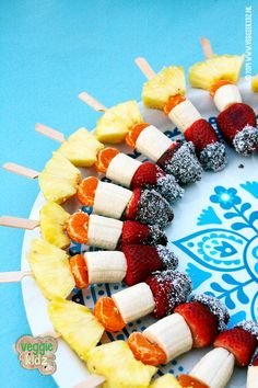 Raketten….fruitspiezen / Monique #raketten #fruitspiezen #fruitskewers
