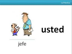 TU VS USTED In English, we use sir and ma'am when we want to be polite. Well, in Spanish, there's also a special way to address p...