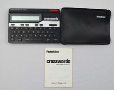 Franklin CW50 Crossword Puzzle Solver - Manual Case Batteries - Tested  | eBay
