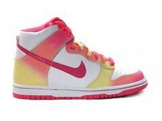 Nike Dunk High Womens GS Rainbow White Pink Yellow