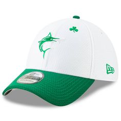 the latest 830c1 bbdff Men s Miami Marlins New Era White Kelly Green 2019 St. Patrick s Day  39THIRTY Flex Hat, Your Price   35.99