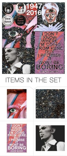 """David Bowie - 1947-2016 - Rest In Peace"" by medusa242 ❤ liked on Polyvore featuring art"