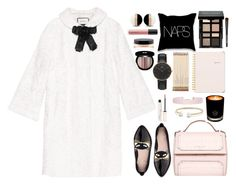 """""""Naps"""" by bamaannie ❤ liked on Polyvore featuring Edward Bess, Gucci, Kate Spade, Givenchy, Bobbi Brown Cosmetics, Sugar Paper, EB Florals, Humble Chic, David Yurman and Daniel Wellington"""