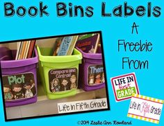 Life in First Grade: Book Bins GIVEAWAY and a *FREEBIE*