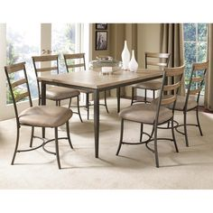 Charleston Rect. Dining Table & Ladder Back Chairs Hillsdale