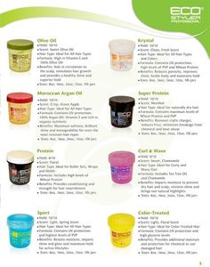 Different types of Eco Hair Gel